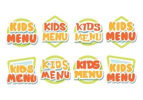 Kostenlose Kinder-Menü-Etiketten