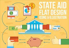 Fri statligt stöd vektor