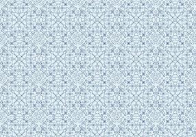 Geometrisk blommotivmönster vektor
