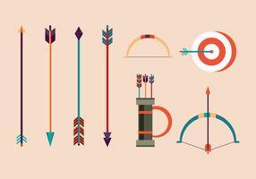 Freie Bogenschießen Vektor Illustrationen
