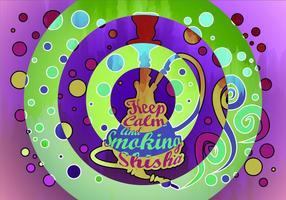 Nargile Shisa Zusammenfassung Hintergrund vektor