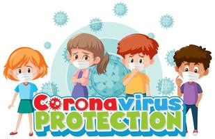 Coronavirus-Poster mit Kindern vektor