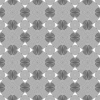 sömlösa koncentriska svarta cirklar mönster