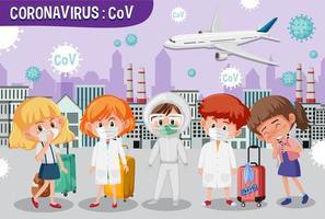 Coronavirus verbreitet sich in der Großstadt vektor
