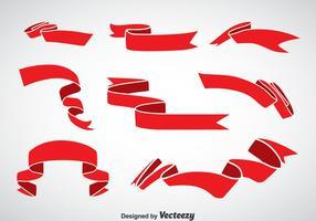 Roter Schärpe-Vektor-Set