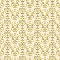 nahtloses dekoratives Damastmuster aus Gold vektor