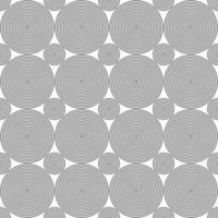 sömlösa svarta koncentriska cirklar prickmönster vektor