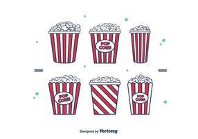 Popcorn-Box-Vektor vektor