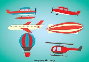 Flugzeug-Vektor-Sets vektor