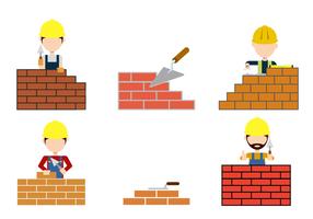 Gratis Bricklayer Vector