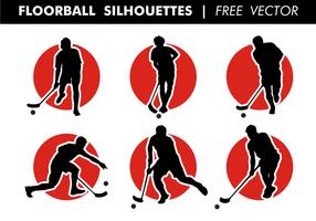 Unihockey Silhouetten freien Vektor