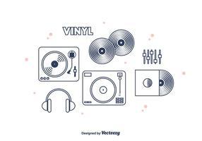 Vinyl-Vektor-Icons