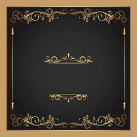 Gold gedeiht und grenzt quadratischen Rahmen
