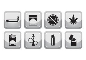 Gratis rökning ikonuppsättning vektor
