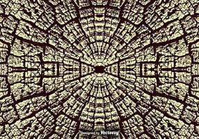 Gebrochene natürliche Holz Textur / Baum Ringe Vektor Hintergrund