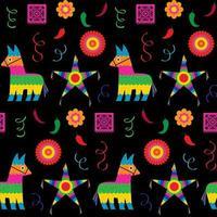 helles nahtloses Muster von Cinco de Mayo Pinata