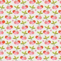 retro körsbär sömlösa mönster