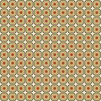 Retro Mod abgerundetes quadratisches nahtloses Muster
