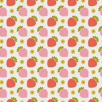 Retro Erdbeer nahtloses Muster vektor