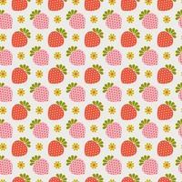 retro jordgubbe sömlösa mönster