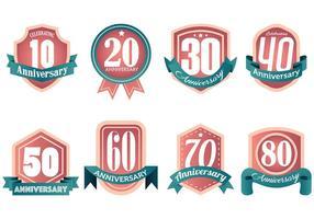 Kostenlose Aniversario Icons Vector