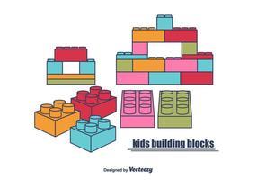 Barnbyggnadsblock vektor