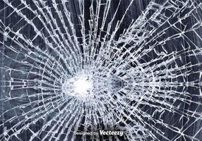 Zerbrochenes Glas Vektor-Illustration