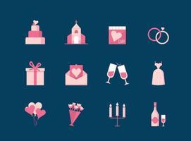 Kostenlose Hochzeit Vektor