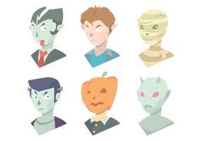 Halloween masker vektor uppsättning