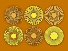 Vektor abstrakt sol ikoner uppsättning
