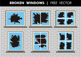 Gebrochene Fenster frei Vektor