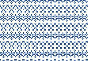 Indigo Stich Muster vektor