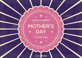 Retro Sunburst Muttertag Illustration