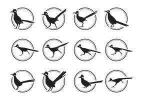 Free Roadrunner Vogel Silhoutte Vektor Pack