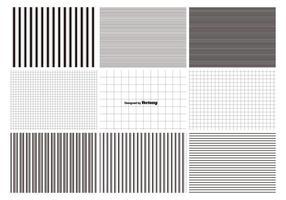 Linien und Gitter Muster Set vektor