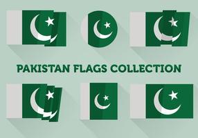 Pakistan Flagg Collection vektor