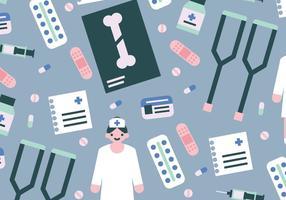 Krankenschwester-Elemente Vektor-Muster