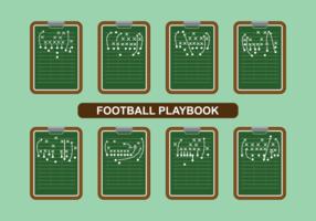Fotboll Playbook Vector