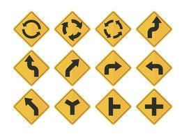 Straßenschild Pfeil Vektoren