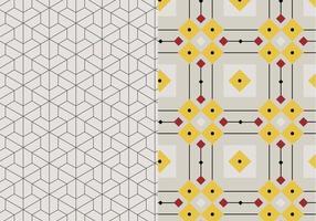 Geometrisk mosaikmönster vektor