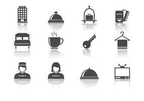 Kostenloses Hotel Icons Vektor