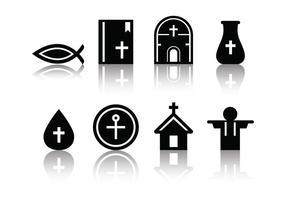 Kostenlose Minimalistische Eucharistie Icons vektor