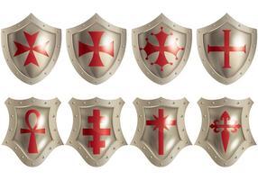 Kostenlose Templar Icons Vektor