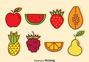 Tecknad Frukt Vector