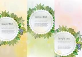 Banners hojas vektor