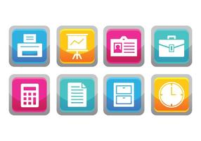 Free office button icons vektor