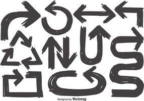 Vector Sammlung Von Sketch Arrows