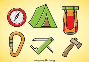 Mountainer tecknad ikoner