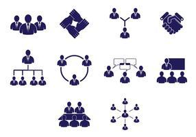 Set von zusammen arbeitenden Icons