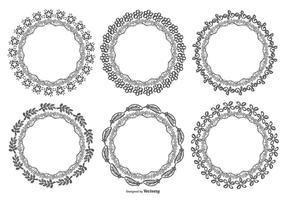 Sketchy handgjorda ramar samling vektor